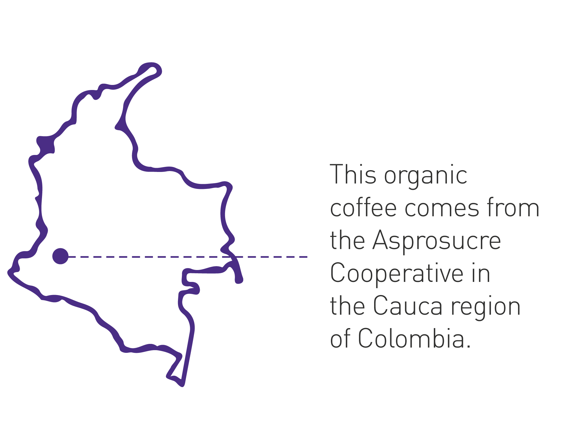 Cafe Femenino Origin Map Colombia