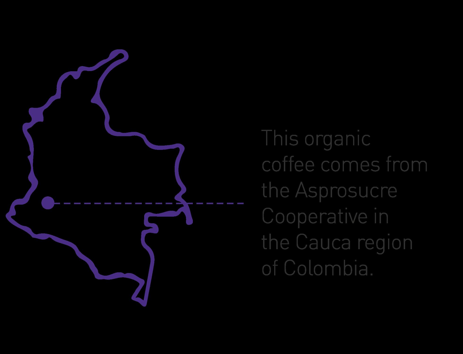 Cafe Femenino Origin Map Colombia
