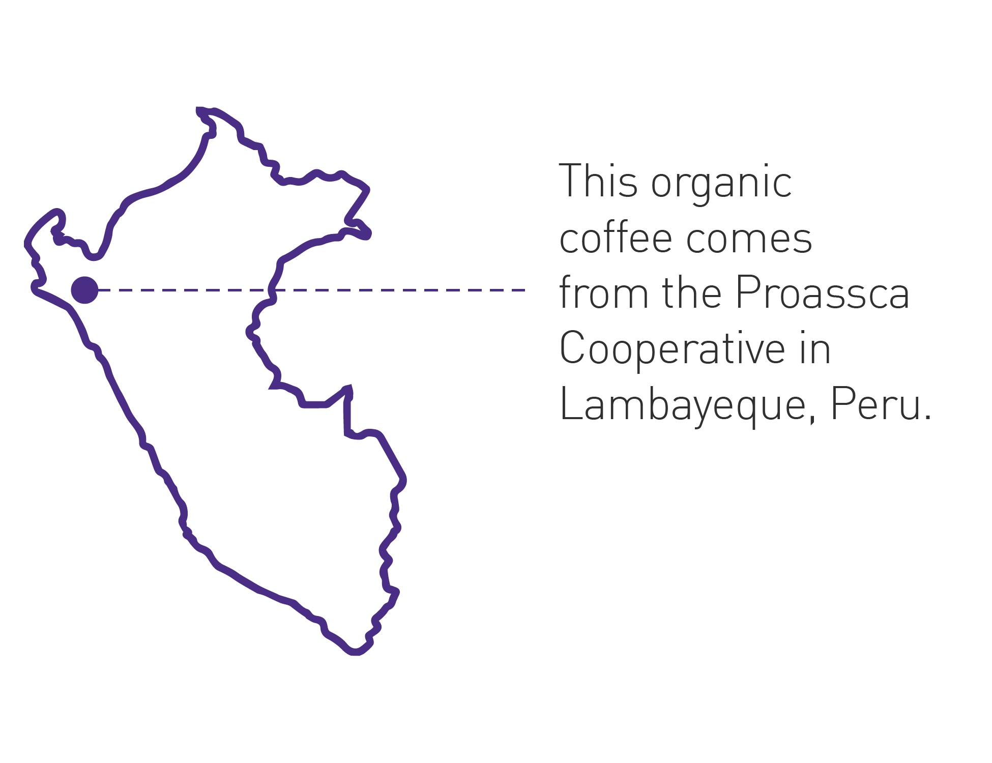 Cafe Femenino Origin Map Peru