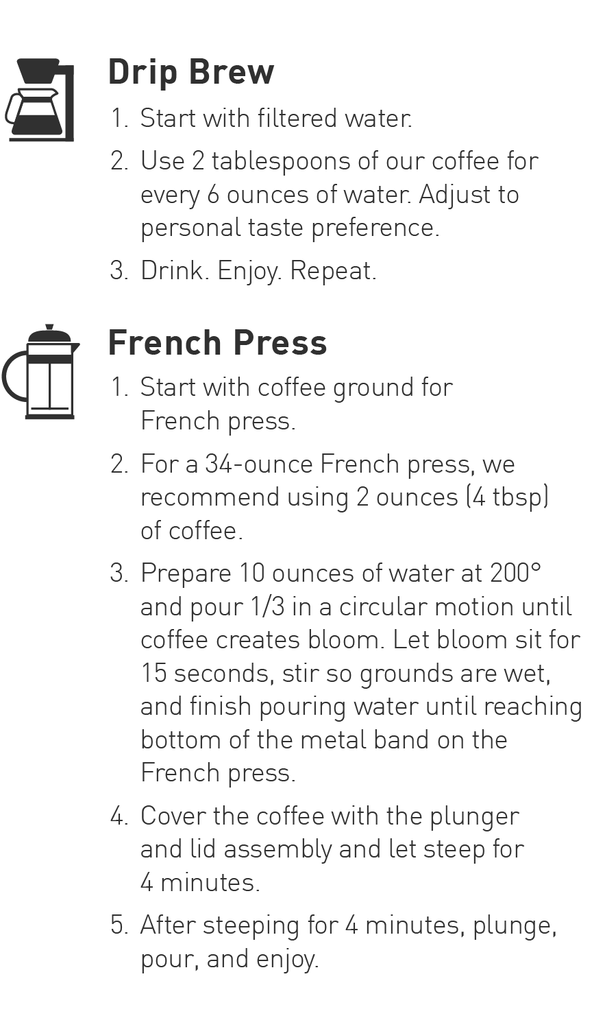 Drip Coffee and French Press Brewing Guide