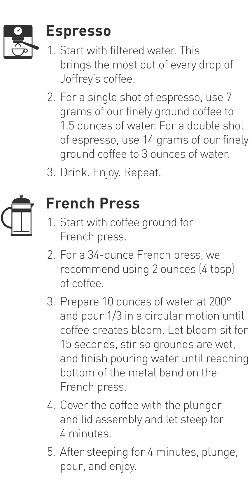 Espresso and French Press Brewing Guide