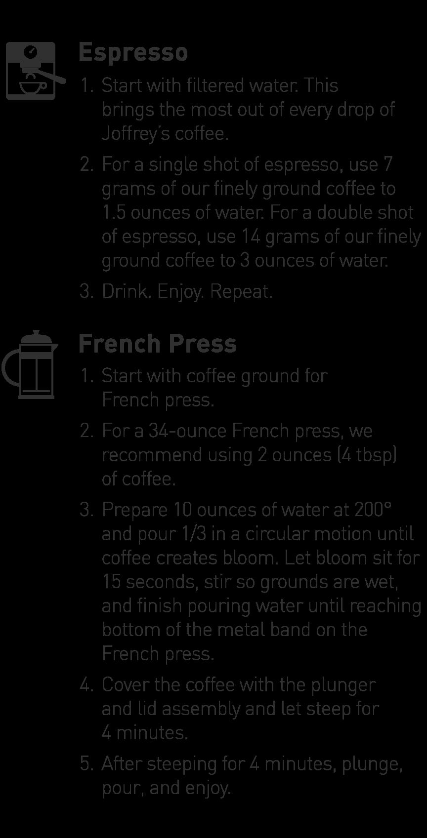 Espresso and French Press Brewing Guide